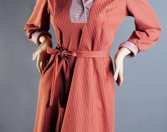 60's Retro Rustic Geometric Dress