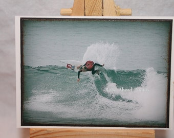 ACEO, ATC, Artist Trading Card, Surfer, California, photography