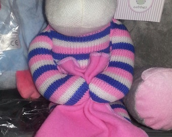Stuffed animal, Sock monkey, personalized, baby gift
