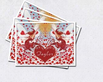 Heart Fairies bookplates