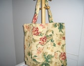 Floral Print Market Bag/Travel Tote
