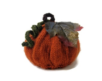 Plump Orange Pumpkin Hat Newborn Photography Prop Ready to Ship - Knitted Baby Hat - Halloween Photo Prop - Autumn Pumpkin Hat - Fall Hat