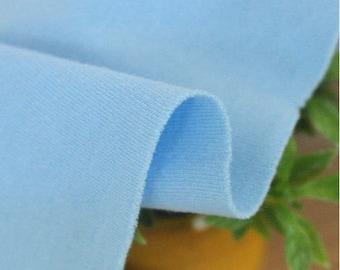 Organic Cotton Interlock Knit - Blue - By the Yard 57349 - GJ