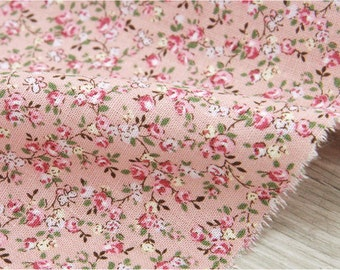 """Cotton Linen Candy Flower - Pink - 57"""" Wide - By the Yard 35410"""