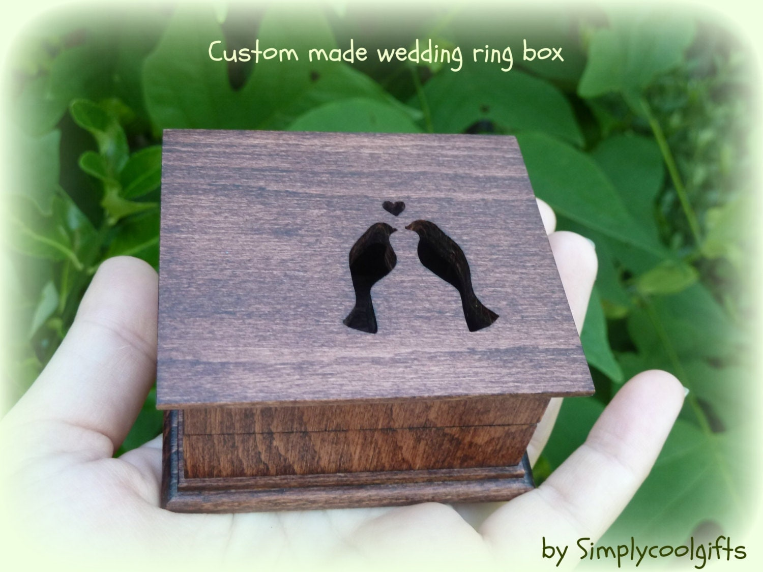 wedding ring box custom ring box ring pillow box
