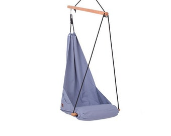 Special Patent Hanging Chair Hammock Chair Swing for Indoor / Outdoor / Patio / Lounge / Porch Fresh Color Ocean Light Blue