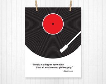 Custom Music Quote, Vinyl Record, Custom Lyric Print, Lyrics, Lyrics Poster, Lyrics Art, Record Poster, Record Print, Music Art, Music Print