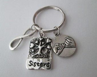 Sister and Pinky Promise, Infinity Keychain