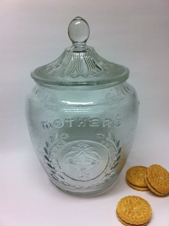 Vintage Mother 39 S Cookies Glass Cookie Jar
