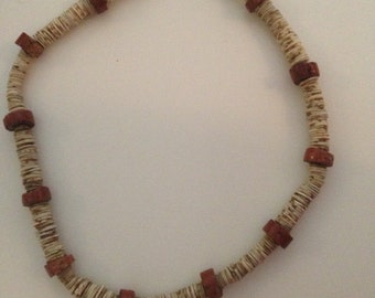 Native American Handmade Old Heishi & Pipestone Necklace