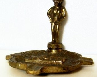 Vintage Brass Ashtray Souvenier from Bruxelles