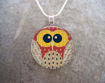 Owl Jewelry - Glass Pendant Necklace - Owl 7
