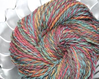 Handspun Yarn - Dusk in the Keys - Falkland Wool, Worsted Weight, 213 yards