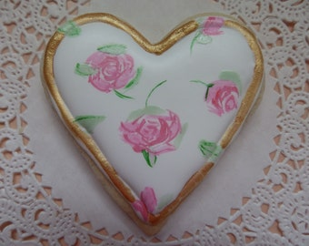 Hand painted heart Cookies