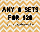 Any 8 sets for 28 - handmade flair buttons/badges