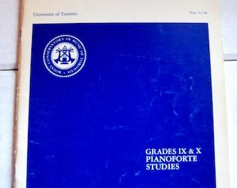 Royal Conservatory of Music, University of Toronto, Grades IX & X Pianoforte Studies, Frederick Harris Music Co.