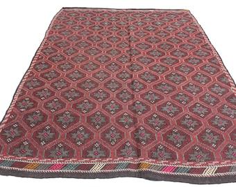 "Vintage Handwoven Wool Rug - Handmade Turkish Decorative Kilim Rug - 73,5""X104,5"" - Bohemian Home Decor - Antique Kilim Rug - Riot of Colors"