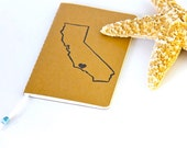 Custom California State Travel Journal Mini Notebook Travel Notebook Sketchbook
