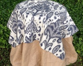 "52"" Square Ikat Tablecloth -Overlay"