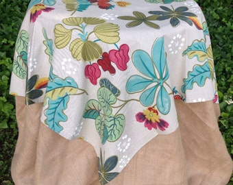"""54"""" Square Floral Tablecloth - Overlay"""