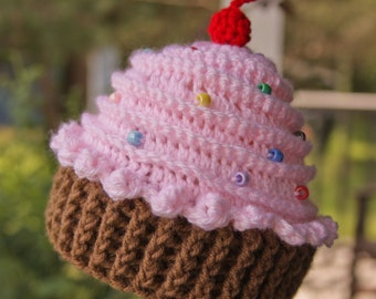 Cupcake Hat - Crochet Cupcake hat - Baby Girl Hat
