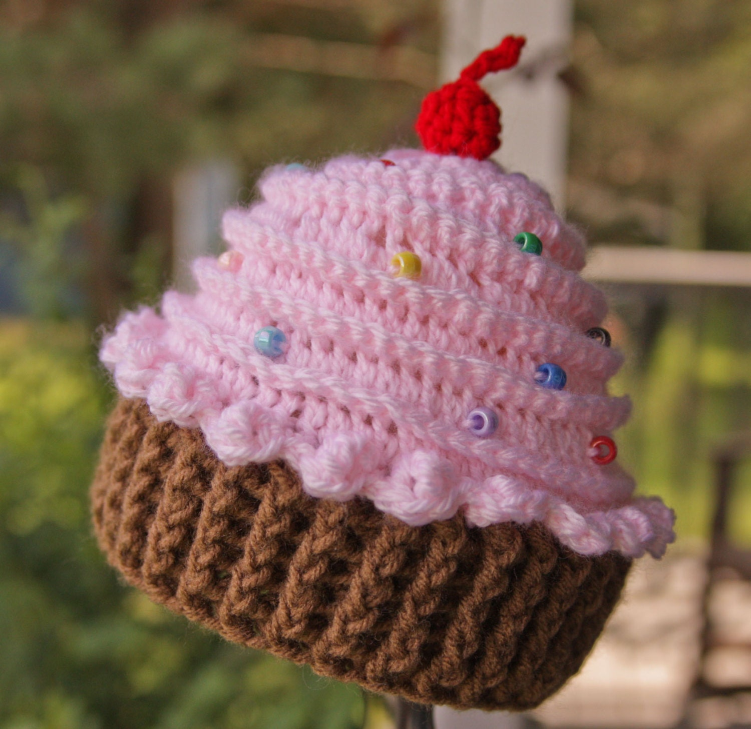 Crochet pattern for baby cupcake hat dancox for cupcake hat crochet cupcake hat baby girl hat bankloansurffo Images