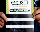 Gamer Party Invitation | Gamer Decorations | Video Gamer | LuluCole