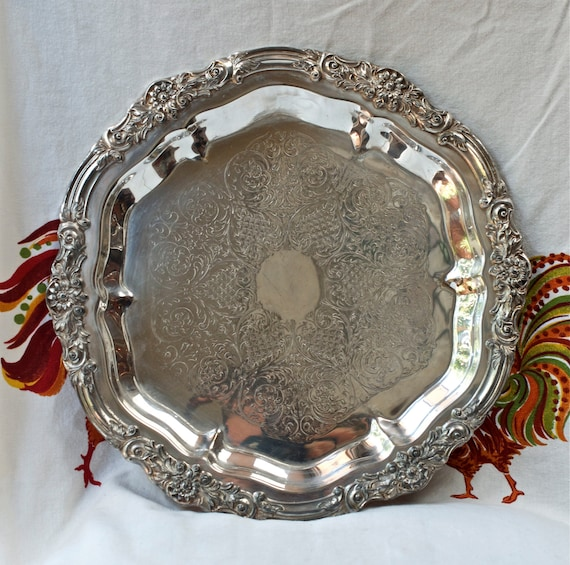 1883 Fb Rogers Silver Plate Tray 6734 Tray