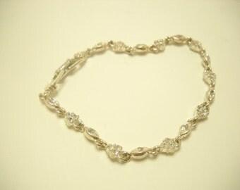 "7"" NAPIER RHINESTONE BRACELET (721) Gorgeous & Sparkly Tennis Bracelet!!"