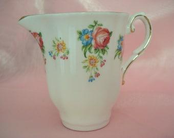 Vintage Shabby Creamer Royal Grafton English Bone China Creamer Pink Rose Shabby Cottage Chic
