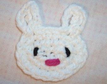 Cute Bunny Applique Pattern - INSTANT DOWNLOAD - Crochet PDF Pattern