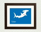 Personalized Nursery Wall Decor - Hammerhead Shark Room Decoration for a  Boy or Girl - Silhouette with a Heart