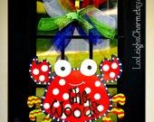 Door Hanger: Crab, Summer Door Decoration, beach decor, Crab Wreath