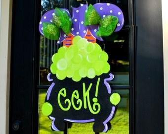Halloween Door Hanger, Halloween Decor, Witch Door Decoration, Fall Home Decor, Halloween Outdoor Decoration