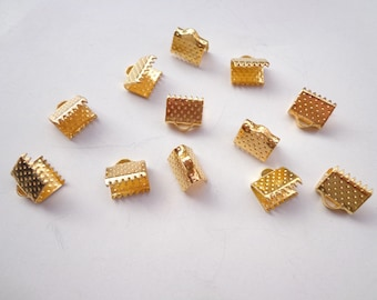 100 pcs 8mm Gold plated Fasteners Clasps