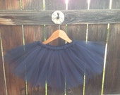 Navy Blue Tulle Tutu- Newborn ,Toddler, Photo Prop
