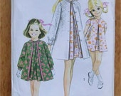 60s Girls dress coat and cap vintage sewing pattern - Simplicity 7612