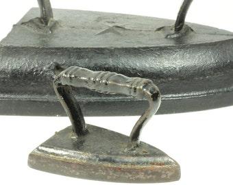 Antique Miniature Sad Iron - Salesman Sample Child's Toy Paperweight Iron