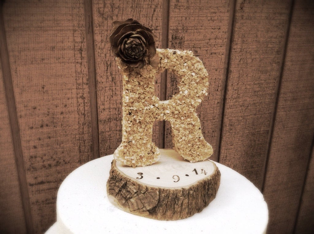 country wedding cake topper rustic wedding cake topper wooden letter country weddings 13003