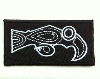 Celtic Raven  - embroidered patch, BUY3 GET4,1,2 X 2,8 INCH