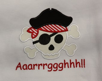 Appliqued Pirate T Shirt