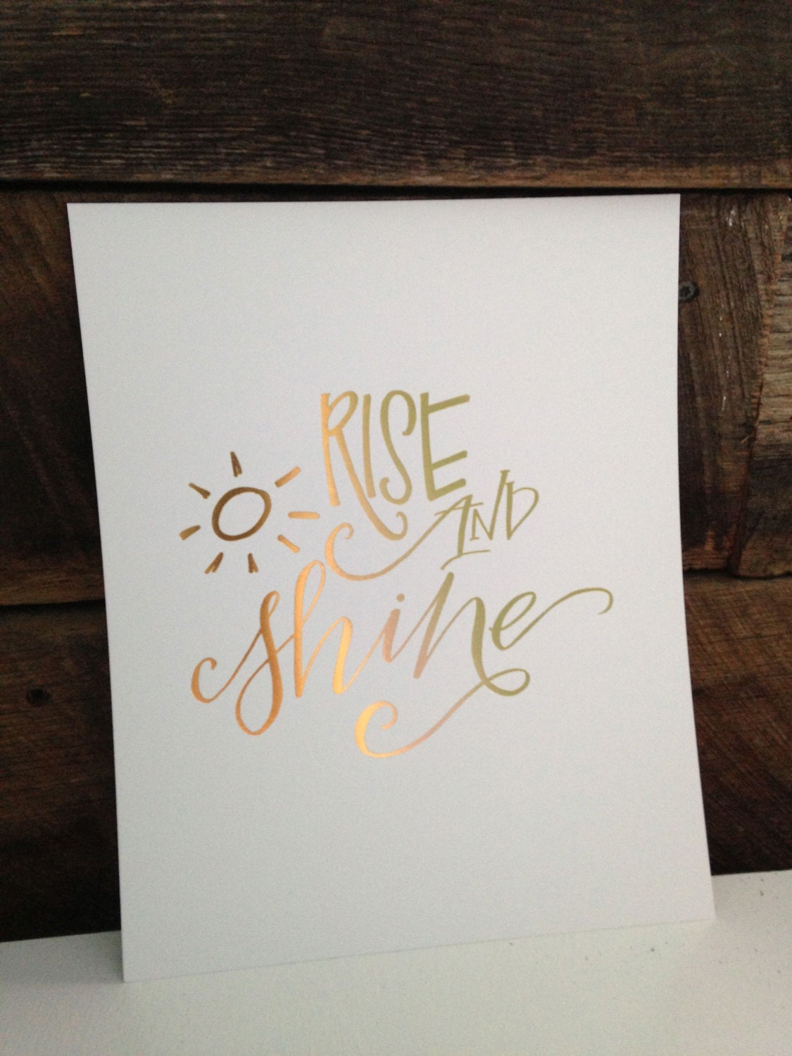 Rise Shine Calligraphy Print 8x10 By Hardinkcalligraphy