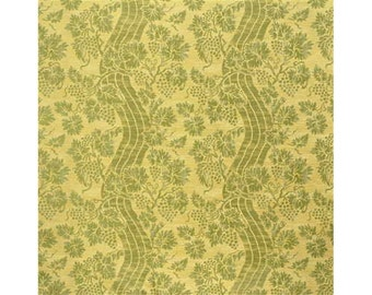 LEE JOFA KRAVET Exclusive Floral Silk Fabric 10 Yards Light Green