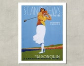 St. Andrews By The Sea, 1936 - 8.5x11 Travel Print - also available in 13x19 - see listing details