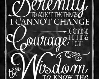 ChalkTypography- The Serenity Prayer (Short Version)