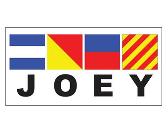 """Personalized Nautical Flags Name Sign - 10"""" x 5"""""""