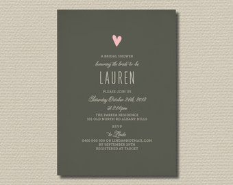 Printable Bridal Shower Invitation (BR127)