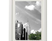 empire state, new york photo, manhattan, black and white photograph,8''x10'', free shipping, clouds, sky