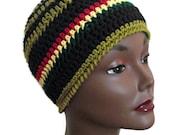 Unisex Jah Army Crochet Beanie