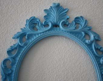 PICK YOUR COLOR Ornate Oval Frame / Shabby Chic / Wedding / Baroque Frame